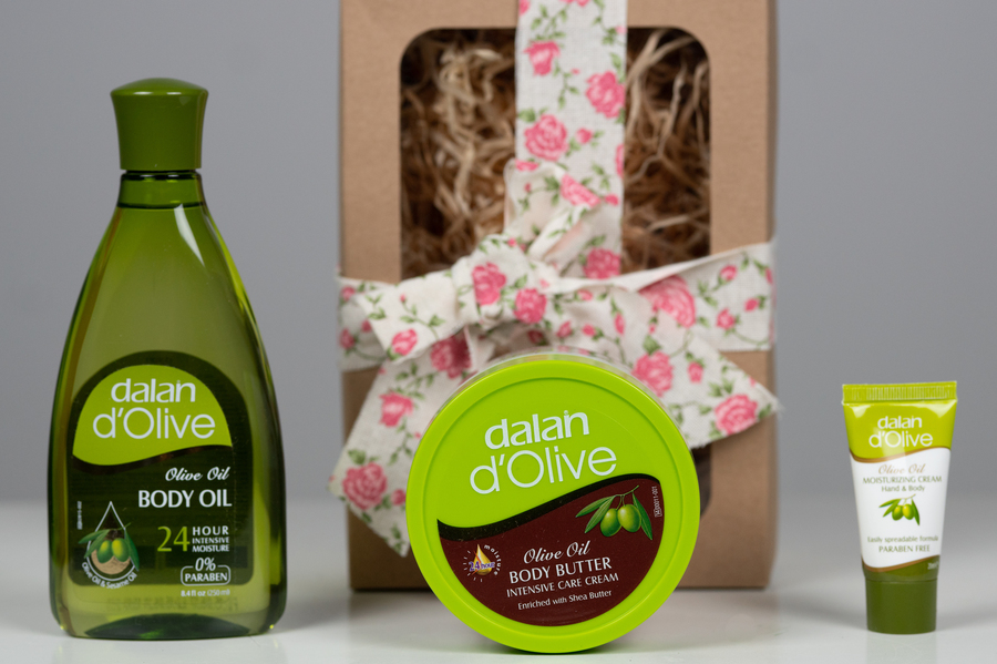 dalan d'Olive Body Butter & Body Oil Gift Pack